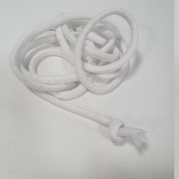 Шнур круглый хб белый 6мм  ШК007