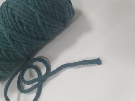 Шнур круглый хб темо-зеленый 5мм  ШК014