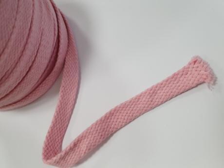 Шнур плоский хб розовый 15мм ШП032