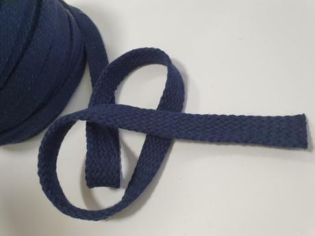 Шнур плоский хб темно-синий 15мм ШП035