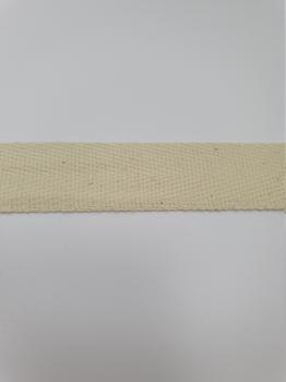 Тесьма киперная ваниль хлопок 1,8г/см 22мм ТК101