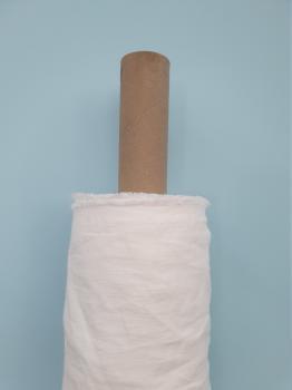 Ткань костюмная эффект мятости 100% лен 145см  Белый ЛК041