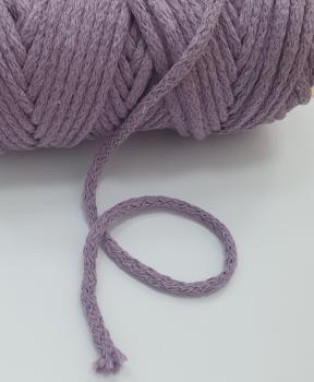 Шнур круглый хб сирень 5мм  ШК026