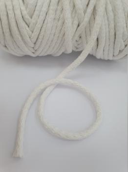 Шнур круглый хб молочный 5мм  ШК027