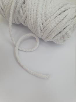 Шнур круглый хб белый 5мм  ШК028