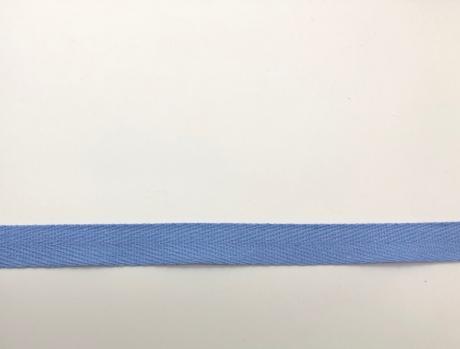 Тесьма киперная серо-голубой пэ 15мм ТК003