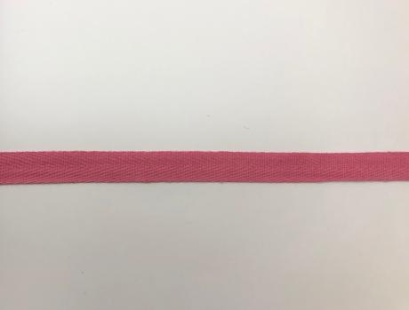 Тесьма киперная розовый хлопок 2,5г/см 15мм ТК006