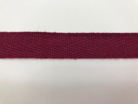 Тесьма киперная бордо хлопок 2,5г/см 15мм ТК007