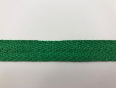 Тесьма киперная зеленый хлопок 2,5г/см 15мм ТК008