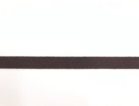 Тесьма киперная коричневый хлопок 2,5г/см 15мм ТК010