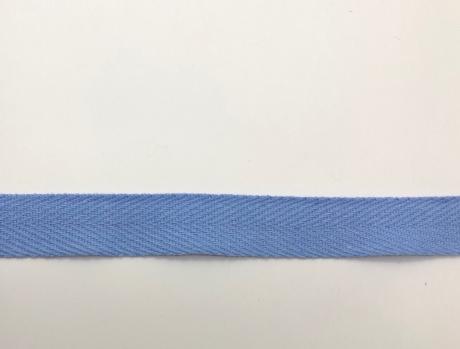 Тесьма киперная голубой хлопок 1,8г/см 22мм ТК015