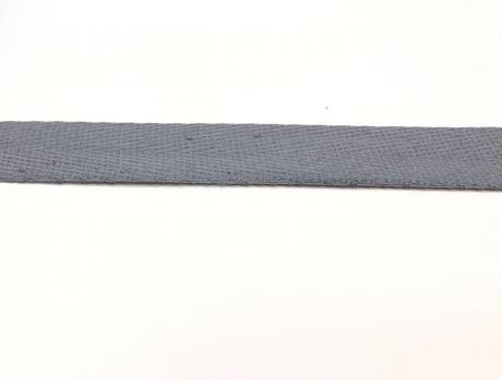Тесьма киперная серый хлопок 1,8г/см 22мм ТК016