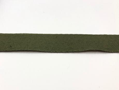 Тесьма киперная хаки хлопок 1,8г/см 22мм ТК017