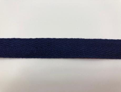Тесьма киперная темно-синий хлопок 1,8г/см 22мм ТК018