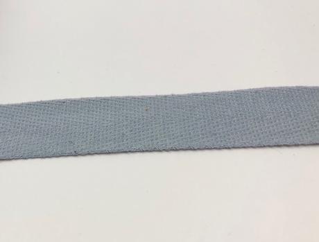 Тесьма киперная светло-серый хлопок 1,8г/см 22мм ТК019