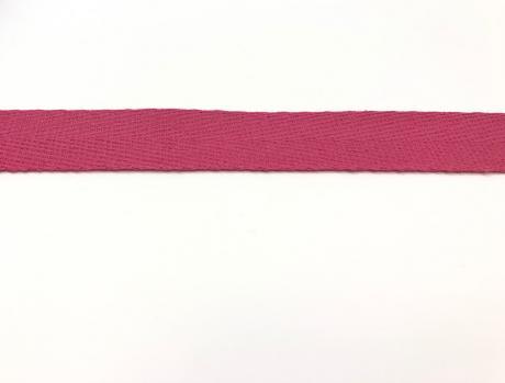 Тесьма киперная ярко-розовый хлопок 1,8г/см 22мм ТК021