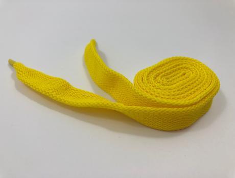 Шнурки плоские желтый 14мм 120см ШП002