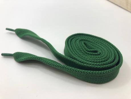 Шнурки плоские зеленый 14мм 120см ШП003