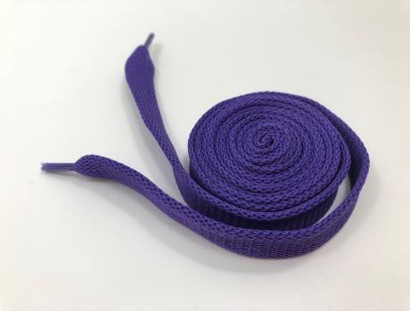 Шнурки плоские фиолетовый 14мм 120см ШП006