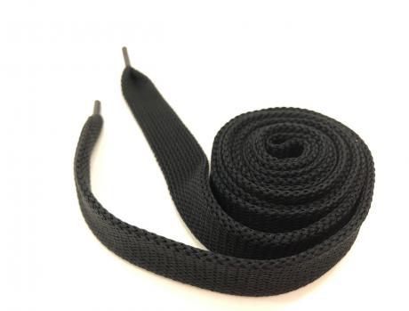 Шнурки плоские черный 14мм 150см ШП007