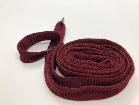 Шнурки плоские бордо 14мм 150см ШП010