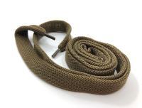 Шнурки плоские оливковый 14мм 150см ШП012