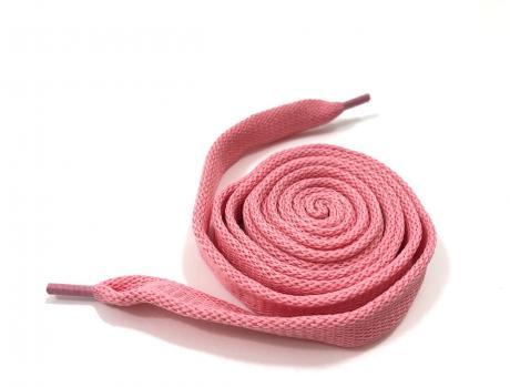 Шнурки плоские розовый 14мм 150см ШП013