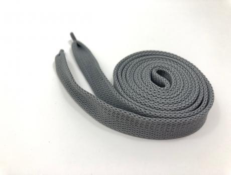 Шнурки плоские серый 14мм 150см ШП014