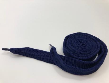Шнурки плоские синий 14мм 150см ШП015