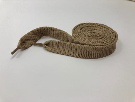 Шнурки плоские темно-бежевый 14мм 150см ШП016