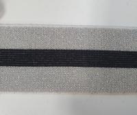Резинка декор люрекс бел/черный РД4008