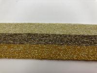 Тесьма отделочная люрекс молоч/хаки/песочный ТО4001
