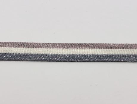 Тесьма отделочная люрекс сер/бел/грязно розовый ТО3004