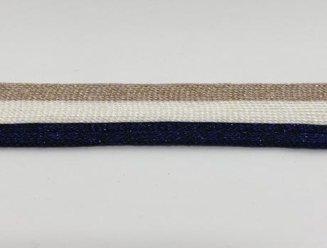 Тесьма отделочная люрекс роз/бел/синий ТО3005