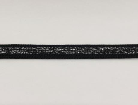 Тесьма отделочная люрекс черн/серебро ТО2002