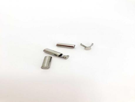 Наконечник для шнура металл Никель НК001