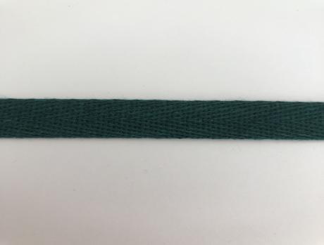 Тесьма киперная темно-зеленый хлопок 2,5г/см 15мм ТК025