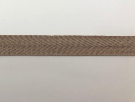 Тесьма киперная темно-бежевый хлопок 2,5г/см 15мм ТК026