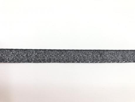 Тесьма киперная металл серый пэ 10мм ТК027