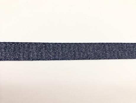 Тесьма киперная металл синий пэ 16мм ТК028