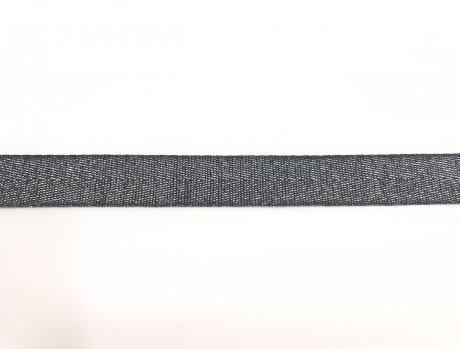 Тесьма киперная металл серый пэ 16мм ТК030