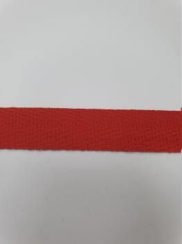 Тесьма киперная красный хлопок 1,8г/см 13мм ТК032