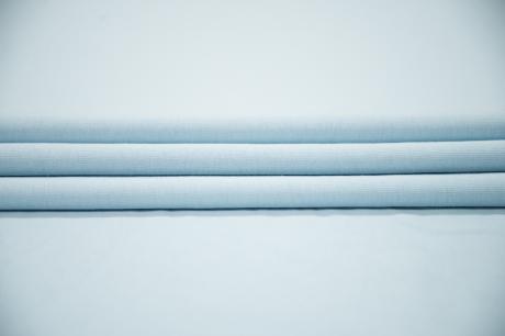Футер 3-х ниточный б/н 95 хб 5 эл Голубой 3БН019 БРАК-разводы