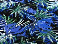 Поплин 131гр/м2 134см 100% вискоза принт цветы Сине-зеленый ПН013