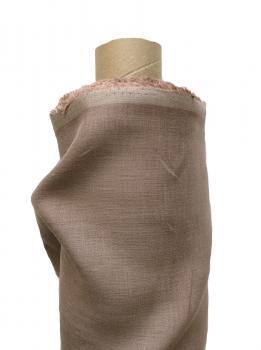 Ткань сорочечная 100% лен 150см Какао ЛС003