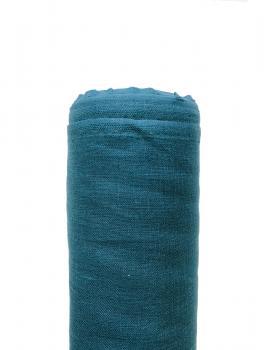 Ткань костюмная 100% лен 145см Темная бирюза ЛК002