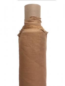 Ткань сорочечная 100%лен 150 см Кэмэл ЛС012