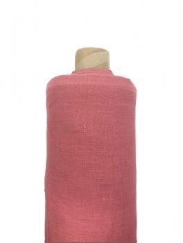Ткань костюмная 100% лен 150см Терракот ЛК010