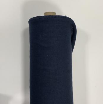 Ткань костюмная 100% лен 150см Темно-синий ЛК012