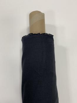 Ткань костюмная 100% лен 150см Черный ЛК015